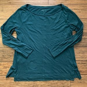 Hunter Green Long Sleeve Tee Shirt